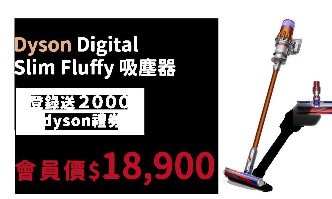 Dyson Digital Slim Fluffy 吸塵器